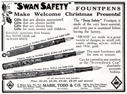 Swan Safety Fountpens -1911A