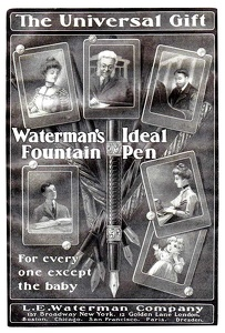 Waterman's Ideal Fountain Pens -1900'sA