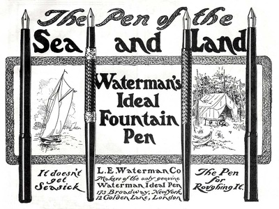 Waterman's Ideal Fountain Pens -1902A
