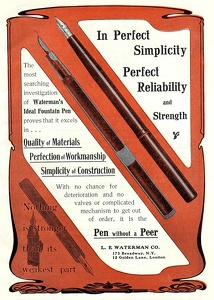 Waterman's Ideal Fountain Pens -1904A