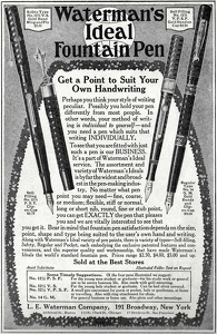 Waterman's Ideal Fountain Pens -1917B