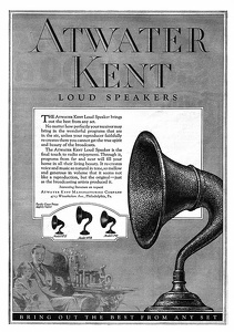 Atwater Kent Loud Speakers -1925A