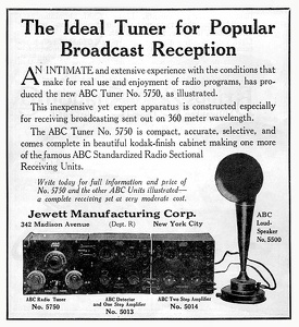 Jewett Radio Tuners -1922A