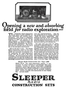 Sleeper Radio Construction Sets -1922A