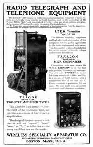 Wireless Specialty Apparatus Co. -1920A