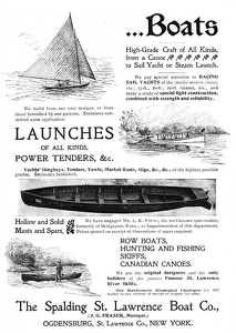 Spalding St. Lawrence Boats -1897A