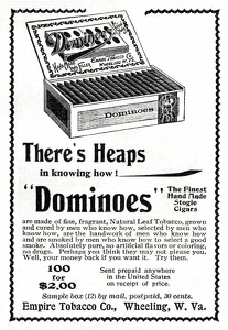 Dominoes Cigars -1896A