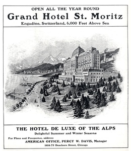 Grand Hotel St Moritz Switzerland -1906A