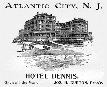 Hotel Dennis Atlantic City, NJ -1894A