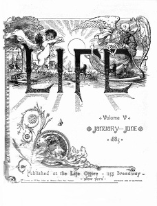 Life 1885 First Half Title Page