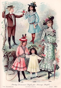 Delineator 1901-07b Pretty Summer Styles for Young People