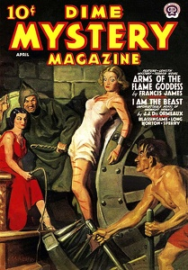 Dime Mystery magazine, a horror pulp