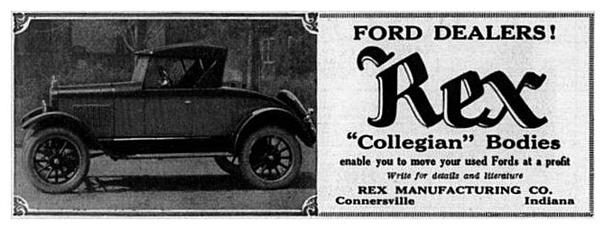 Rex Collegian Bodies -1926A