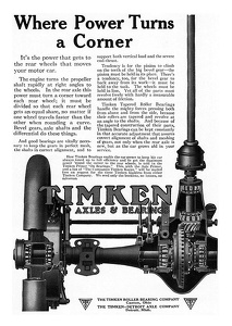 Timkin Axles and Bearings -1915A