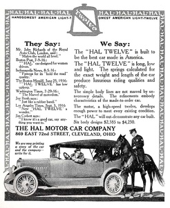 Hal Motor Cars -1916A