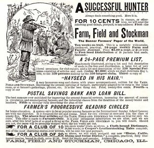 Farm Field and Stockman -1891A