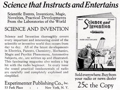 Science and Invention -1926A