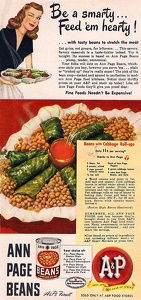 A and P Canned Beans -1949A
