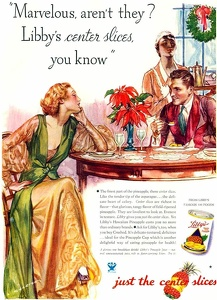 Libby's Pineapple Slices -1933A