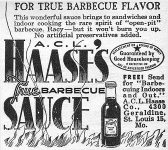 Haase's Barbecue Sauce -1947A