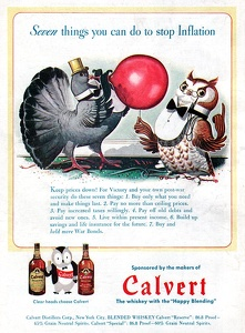 Calvert Whiskey -1944B