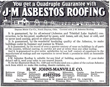 Johns-Manville Asbestos Roofing -1912A