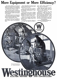 Westinghouse Electric Motors and Controllers -1918A