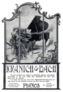 Kranich and Bach Pianos -1906A