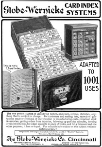 Globe-Wernicke Card Index Systems -1900'sA