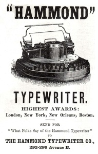 Hammond Typewriters -1888A