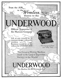 Underwood Typewriters -1917A