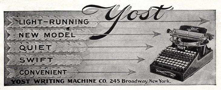 Yost Writing Machines -1902A