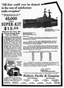 Baldwin-Pacific Radio Kits -1925A