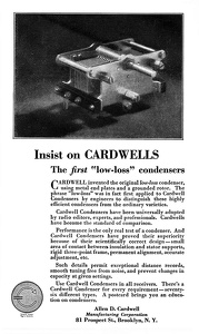 Cardwell Condensers -1925A