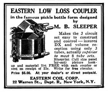 Eastern Low Loss Couplers -1925A