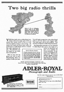 Adler-Royal Radios -1925A
