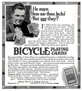 Bicycle Playing Cards -1916A