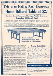 Brunswick-Balke-Collender Billiard Tables -1915A