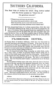 Florence Hotel San Diego, CA -1890A