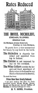 Hotel Richelieu Chicago, IL -1895A