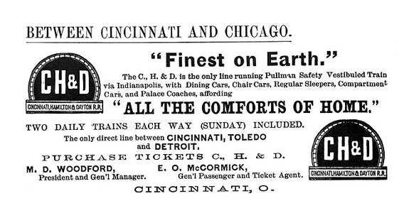 Cincinnati Hamilton and Dayton -1891A