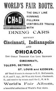 Cincinnati Hamilton and Dayton -1891B