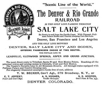 Denver and Rio Grande -1891B