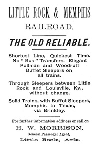 Little Rock and Memphis Railroad -1891A