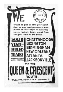 Queen and Crescent Route -1895A