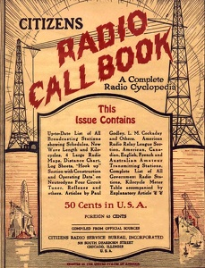 Citizens Radio Call Book 1923-11
