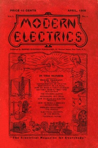 Modern Electrics, the first Gernsback popular technical magazine